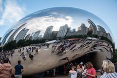 CloudGate_115219 (gpferd) Tags: bean building chicago cloudgate clouds construction landmark people reflection illinois unitedstates us