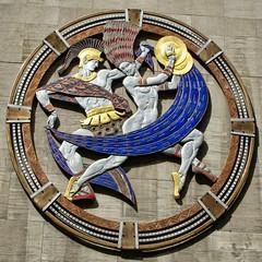 Art Deco Dance (Atelier Teee) Tags: terencefaircloth atelierteee artdeco radiocitymusichall newyork soldier dancer cymbals helmet hair