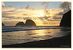 golden treasure! (MEA Images) Tags: sunset clouds nature water waterscape landscape archrocks rockformations beach ocean pacificocean oceanside oregon reflection tide sand canon picmonkey