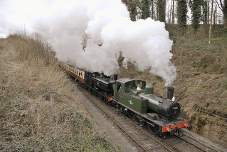 1450 & 7714 approaching Arley Station