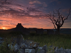 barn and tree (popcornChris) Tags: barn tree sky sunset peakdistrict peaks derelict abandoned moors