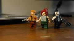 Some DC garbage figs (Julekcoolka) Tags: lego booster gold rip hunter meraquaman lobo dc comics