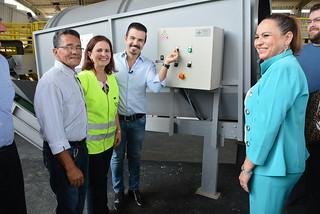 Inauguração do centro de gerenciamento de resíduos sólidos