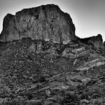 A Morning Portrait of Casa Grande Peak (Black & White, Big Bend National Park) thumbnail