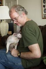 Jim & Max III (edenpictures) Tags: cat max cornishrex lapcat jim petting brookdale