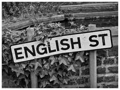 English St, Leigh, Lancashire (Pitheadgear) Tags: uk england lancashire streetnames blackandwhite monochrome mono leigh