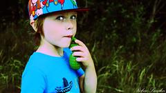 My son Vincent Lundin (Robin Lundin) Tags: son boy candy granade bush hat beauty kid