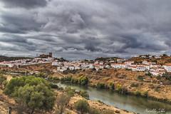 Mertola (Mirarmor) Tags: portugal nuages paysage route rivière eau ciel arbres maisons