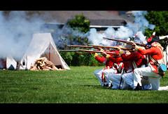 Fire! (Dan Haug) Tags: 100thregimentoffootprinceregentscountyofdublinregimen richmond200 ricmond ontario canada anniversary battle musket redcoats fujifilm xh1 xf50140mmf28rlmoiswr xf50140 100thregimentoffootprinceregentscountyofdublinregiment