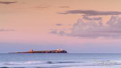 Island sunset .. (Mike Ridley.) Tags: farneisland northumberland northumberlandcoast sunset redsky sky island sonya7r2 mikeridley nature sea waves