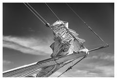 Folded sail (leo.roos) Tags: sail zeil boat ship boot schip noiretblanc scheveningenharbour scheveningen denhaag thehague a7rii sonyfe24105mmf4goss sony241054 darosa leoroos