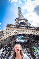 Stephanie and the Eiffel tower.