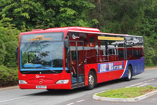 GO NORTH EAST 5284 NK08CFP IS SEEN AT HOELANDS PARK & RIDE, DURHAM ON 17 JUNE 2018