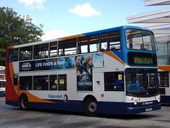 Stagecoach Midlands TransBus Trident (TransBus ALX400) 18155 PX04 DPU (Alex S. Transport Photography) Tags: bus outdoor road vehicle stagecoach stagecoachmidlandred stagecoachmidlands unusual glitch alx400 alexanderalx400 dennistrident trident transbustrident transbusalx400 route2 18155 px04dpu