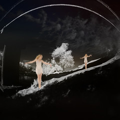 clouds on the bridge (old&timer) Tags: background infrared filtereffect composite surreal song4u oldtimer imagery digitalart laszlolocsei