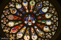 """ Le jugement dernier "" Cathédrale st Maurice (Pierrot 49) Tags: art colors nationalgeographic nikonflickraward angers france stainedglass window"