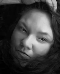 Simply Me (Southern Darlin') Tags: me self selfportrait photography photo portrait bw blackandwhite black white woman closeup face monochrome