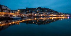 Blue Hour At West Looe (Julian Barker) Tags: west looe cornwall south kernow england great britain uk europe river lights reflection long exposure blue hour canon dslr 5d mkii julian barker
