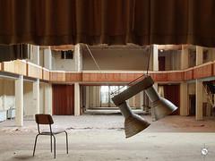 Hotel F. 42 (Moddersonne) Tags: lost place urbex verlassen abandoned decay verfall urban exploration hotel fürstlich fürstliches bühne stage vorhang curtain stuhl chair lampe lamp saal ballsaal ballroom