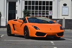 Lamborghini Gallardo LP560-4 Spyder (CA Photography2012) Tags: xcl6 lamborghini gallardo lp5604 spyder supercar convertible spider cabriolet roadster orange lp560 4 lp 560 v10 sportscar super sports lambo superleggera performante black ca photography automotive exotic car spotting bawtry