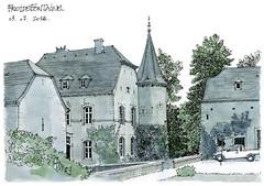 Froidefontaine (gerard michel) Tags: belgium namur condroz architecture château ferme sketch croquis aquarelle watercolour