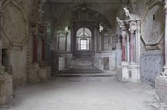 La Chiesa Rossa (Sean M Richardson) Tags: abandoned church angels dark shadows canon texture red black white ruins