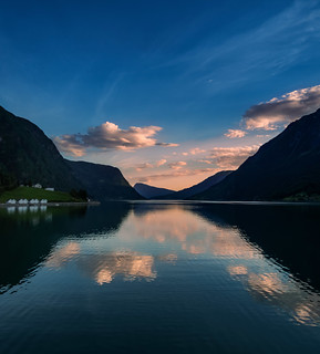 Dusk on the Lustrafjord