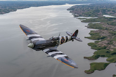 Spitfire Shoreline (jetguy1) Tags: spitfire mkixspitfire warbird lake air2air aviation fighter pilot wwii