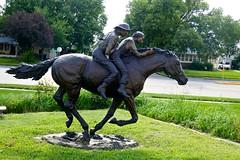 """A Narrow Escape,"" Sculpture by David L. Biehl, Hastings Museum (ali eminov) Tags: hastings nebraska museums hastingsmuseum sculptors davidbiehl sculptures anarrowescape"