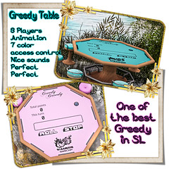 W.S Greedy Table (JohnnyWalker29 Resident) Tags: greedy game table dice mesh secondlife second life