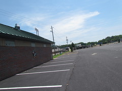 Outside First Base at Grainger Stadium -- Kinston, NC, June 28, 2018 (baseballoogie) Tags: 062818 baseball baseball18 baseballpark ballpark stadium graingerstadium canonpowershotsx30is downeastwoodducks woodducks carolina league a milb kinston nc northcarolina