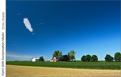 Farm With Exclamation Mark! (jwvraets) Tags: atwood southwesternontario farm summer crops sky cloud exclamationmark blue farmhouse opensource rawtherapee gimp nikon d7100 afsdxnikkor1224mm