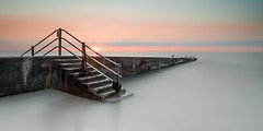 Steps Sunset (Nathan J Hammonds) Tags: sunset kent uk breaker sea coast water steps long exposure nd filter lee nikon d750 colour smooth calm relaxing bigstopper sky seascape minnis bay gulls sun perspective summer