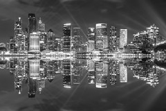 sydney (Greg Rohan) Tags: lights nightlights nightphotography longexposure vividfestival laserbeams beams sky architecture buildings building skyscrapers skyscraper skyline mirror reflection monochrome blackandwhite bw australia vividsydney vivid sydney d750 2018 nikon nikkor city night