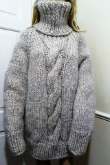 Turtleneck wool sweater (Mytwist) Tags: lophouse88 heavyweight thick chunky mohair wool sweater cabled