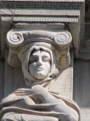 Mysterious Woman Dame Winter Caryatid NYC 5427 (Brechtbug) Tags: stone ladies courthouse roof statues across from madison square park new york city caryatid atlantid 2018 nyc 07152018 art architecture gargoyle gargoyles statue sculpture sculptures facade figures column columns court house law government building lady women woman figure form far east buildings mysterious dame winter seasons