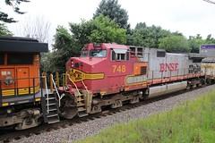 #748 still in Warbonnet (kschmidt626) Tags: union pacific train illinois rochelle park railroad graffiti bnsf burlington diamond