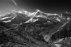 PC071214 (ernsttromp) Tags: nepal olympus omd em10 918mmf456 microfourthirds mirrorless mountain himalayas landscape manang mountainscape summit 3x2 mzuiko acap 2017 blackandwhite bw mft annapurnaiii gangapurna nature monochrome m43
