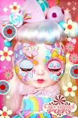 Rainbow Beannie (♥ Caramelaw ♥) Tags: caramelaw caramelpops blythe blythes doll dolls pullip pullips custom customised customized cute candy rainbow ooak