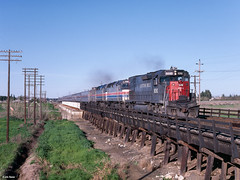 SSW 9292 West at Davis, CA (thechief500) Tags: amtrak calp railroads renofuntrain sp