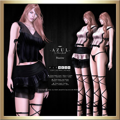 (AD) -AZUL- Maxine (mami_jewell) Tags: azul dress 2pc separate lingerie lace straps panties sheer sense event exclusive prerelease new casual sl secondlife virtual game avatar fashion