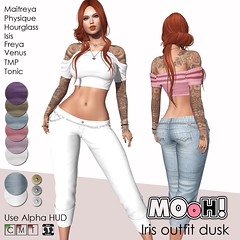 Iris outfit dusk (Dalriada Delwood (MOoH!)) Tags: sl mooh avenue white nights