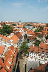 what makes us love a city and when is it ours? (lina zelonka) Tags: erfurt germany europe linazelonka thüringen thuringia thueringen thuringen deutschland nikond7100 18140mm altstadt erforidaturrita rooftops orange dächer vertical architecture architektur