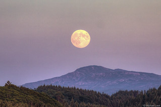 Full moon over Tobermory; Isle of Mull, Scotland