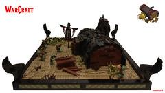Warcraft Troll Lumber Mill (Andras Bolvary) Tags: lego warcraft wow orc horde troll lumber mill