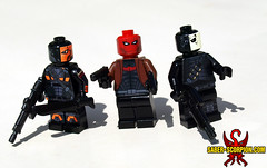 Deathstroke, Red Hood, and Wintergreen