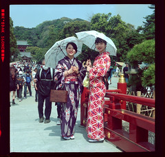 On an beautiful day like today - Kamakura (Peter Bellars) Tags: kamakura spring bluefiremurano kimono japan sakura