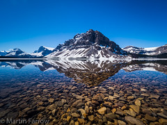 _5238018 (Hyperfocalist) Tags: canada alberta spring rocky mountains bow lake reflections still water clear mountain trees ice snow