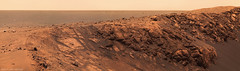 Opportunity at the rim of Santa Maria (Lights In The Dark) Tags: opportunity mars rover crater
