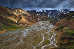 Landmannalaugar (sven483) Tags: landmannalaugar highlands iceland nterior ryolite rivers landscape drama delta ijsland